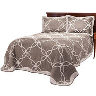 Sophie Tufted Quilt/Sham Full/Queen Taupe by OakRidge™