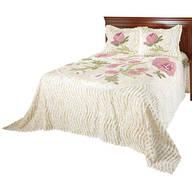 Helen Chenille Bedspread/Sham Queen by OakRidge™