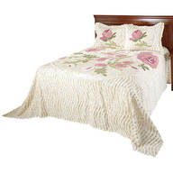Helen Chenille Bedspread/Sham King by OakRidge™