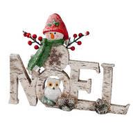 Resin Snowman NOEL Sign
