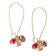 Hoop Earrings with Changeable Gems