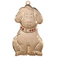 Personalized Brass Birthstone Dog Ornament