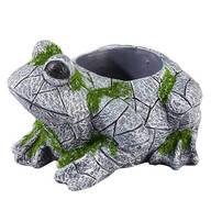 Resin Frog Planter
