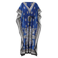 Blue Mosaic Drawstring Caftan