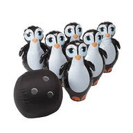 Giant Inflatable Penguin Bowling Set