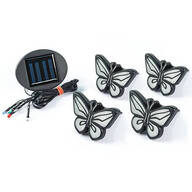 In-Ground Solar Butterfly Lights, Set of 4