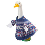 Blue and White Sweater Goose Outfit