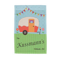 Personalized Happy Campers Garden Flag