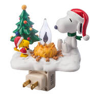 Peanuts® Christmas Campfire Night Light