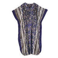 Blue Scroll Shiny Caftan by Sawyer Creek