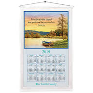 Personalized Serenity by the Lake Calendar Towel