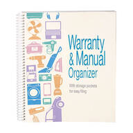 Warranty and Manual Organizer