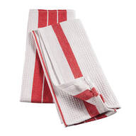 Big & Thirsty Red Stripe Kitchen Towels, Set of 2
