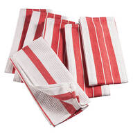 Big & Thirsty Red Stripe Kitchen Towels, Set of 6