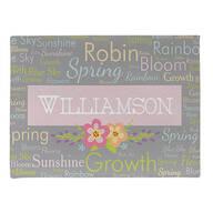 Personalized Spring Words Doormat