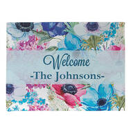 Personalized Floral Spring Doormat