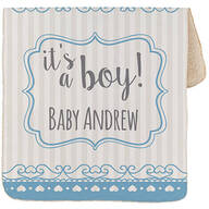 "Personalized It's a Boy! Baby Sherpa Throw 30""x40"""