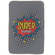 "Personalized Super Hero Sherpa Throw, 37"" x 57"""