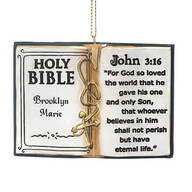 Personalized Holy Bible Ornament