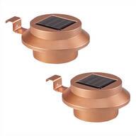 Copper Solar Gutter Lights, Set of 2
