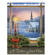Personalized It Takes Just One Christmas Cards, Set of 20