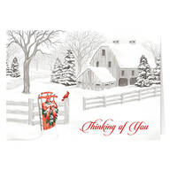 Personalized Thinking of You Christmas Cards, Set of 20