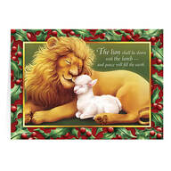 Personalized Lion and the Lamb Christmas Cards, Set of 20