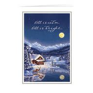 Personalized Serene Christmas Cards, Set of 20