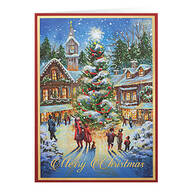 Personalized Christmastime Christmas Cards, Set of 20