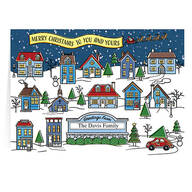 Personalized Your Town Christmas Cards, Set of 20
