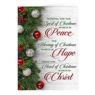 Peace, Hope, Christ Christmas Card Set of 20