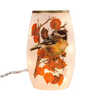 Harvest Chickadee Lighted Hurricane