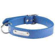 Personalized Blue Dog Collar