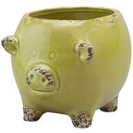 Ceramic Pig Planters, Set of 3