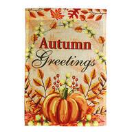 Autumn Greetings Garden Flag