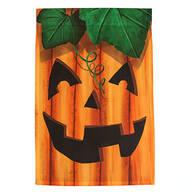 Rustic Jack-O-Lantern Garden Flag