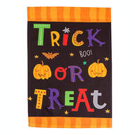 Trick-Or-Treat Garden Flag