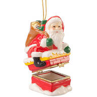 Santa Chimney Trinket Box Ornament