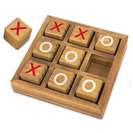Wooden Tic Tac Toe, 10-pc. Set