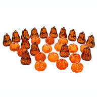 Acrylic Pumpkin Table Scatters, Set of 30