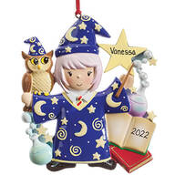 Personalized Wizard Ornament