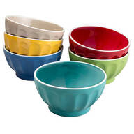 Gibson Assorted Color Fun Bowls, Set of 6