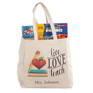 Personalized Live, Love, Teach Tote