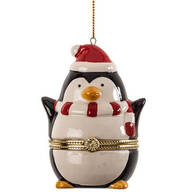 Penguin Trinket Box Ornament