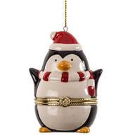 Penguin Trinket Box Ornament