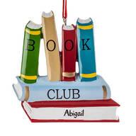 Personalized Book Club Ornament