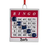 Personalized BINGO Ornament
