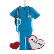 Personalized Blue Scrubs Ornament