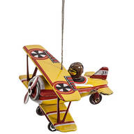 Tin Bi-Plane Ornament