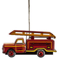 Tin Fire Engine Ornament